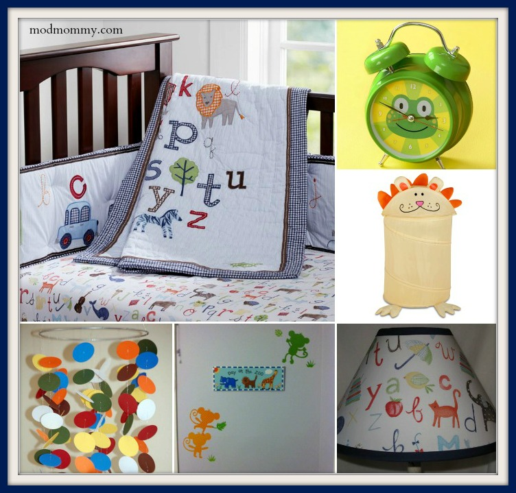 An animal alphabet nursery for baby boy | The Mod Mommy – Rhode ...