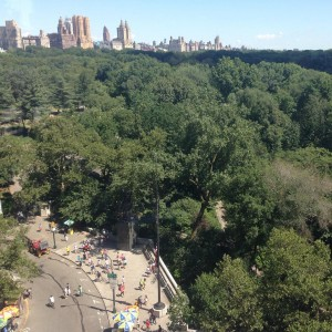 Our view of Central Park inside the hospitality suite Wehellip