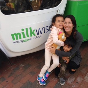 Having fun at the MilkWise tour stop in Providence! MilkWise