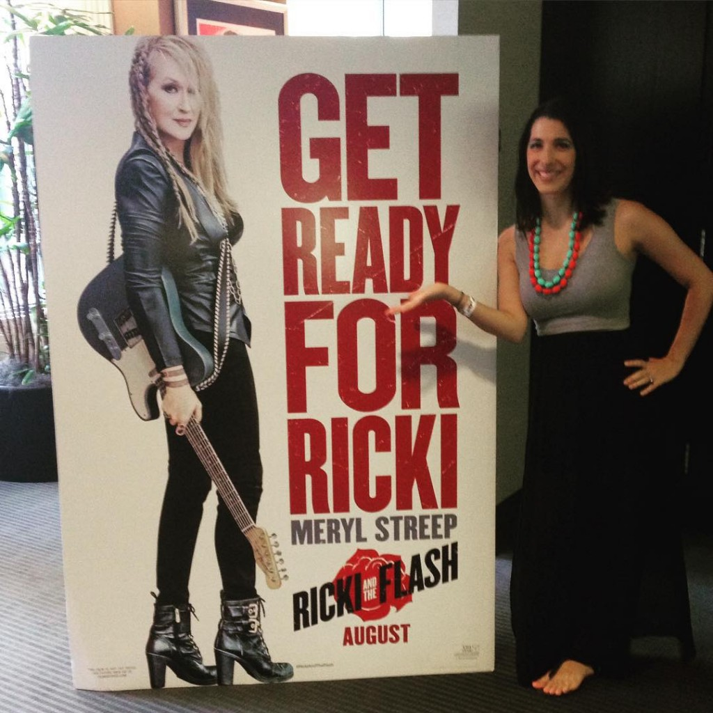 I'm sitting in my seat inside Sony's screening room ready to see #RickiAndTheFlash. Let's do this! So excited! #RickiJunket @RickiMovie